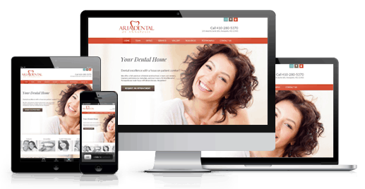 custom website design dental