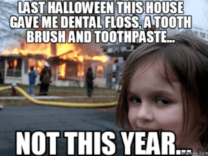 evil girl dentist meme