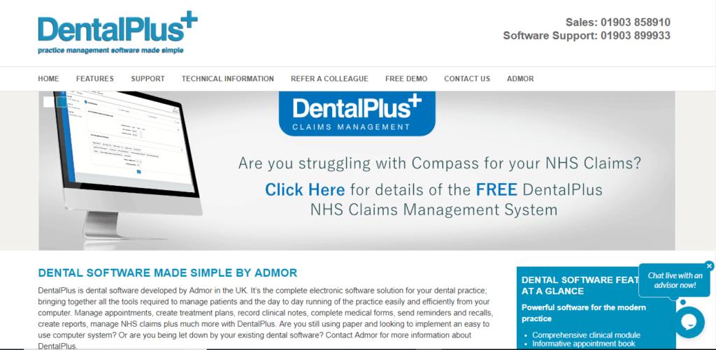 dental plus dentist software UK